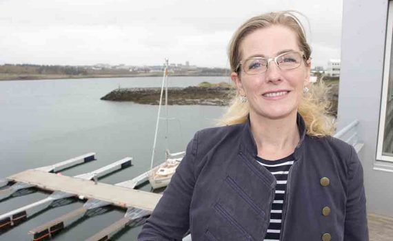 Sigríður Ólafsdóttir, formaður Siglingafélagsins Ýmis.